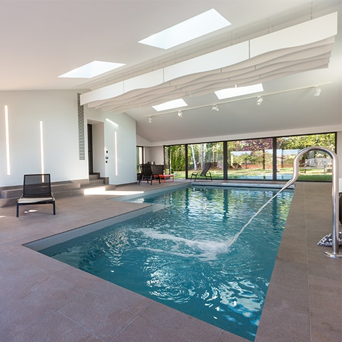 Construction d 39 une piscine couverte priv e accord archi for Construction piscine couverte
